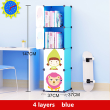 1 Set Cartoon Silicone Toys Organizer Free Combination Bookcase Resin Large Storage Box Garderobe Children Clothes Cabinet