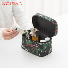 Floral Pattern Large Capacity Cosmetic Storage Bag Tote Toiletry Bag Portable Travel Makeup Organizer Container Wash Bag