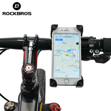 ROCKBROS Bike Phone Stand PVC Bicycle Handlebar Mount Holder Universal For iPhone Cellphone Cycling Bicycle Accessories 2 Styles