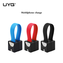 UYG magnetic charger micro usb outdoor portable smallest emergency phone charger for iphone for samsung xiaomi huawei android LG