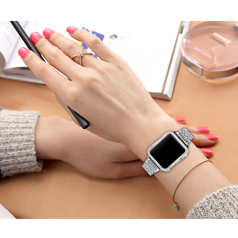 luxury metal watch case for apple Housing cover watch shell 38-42mm (13)