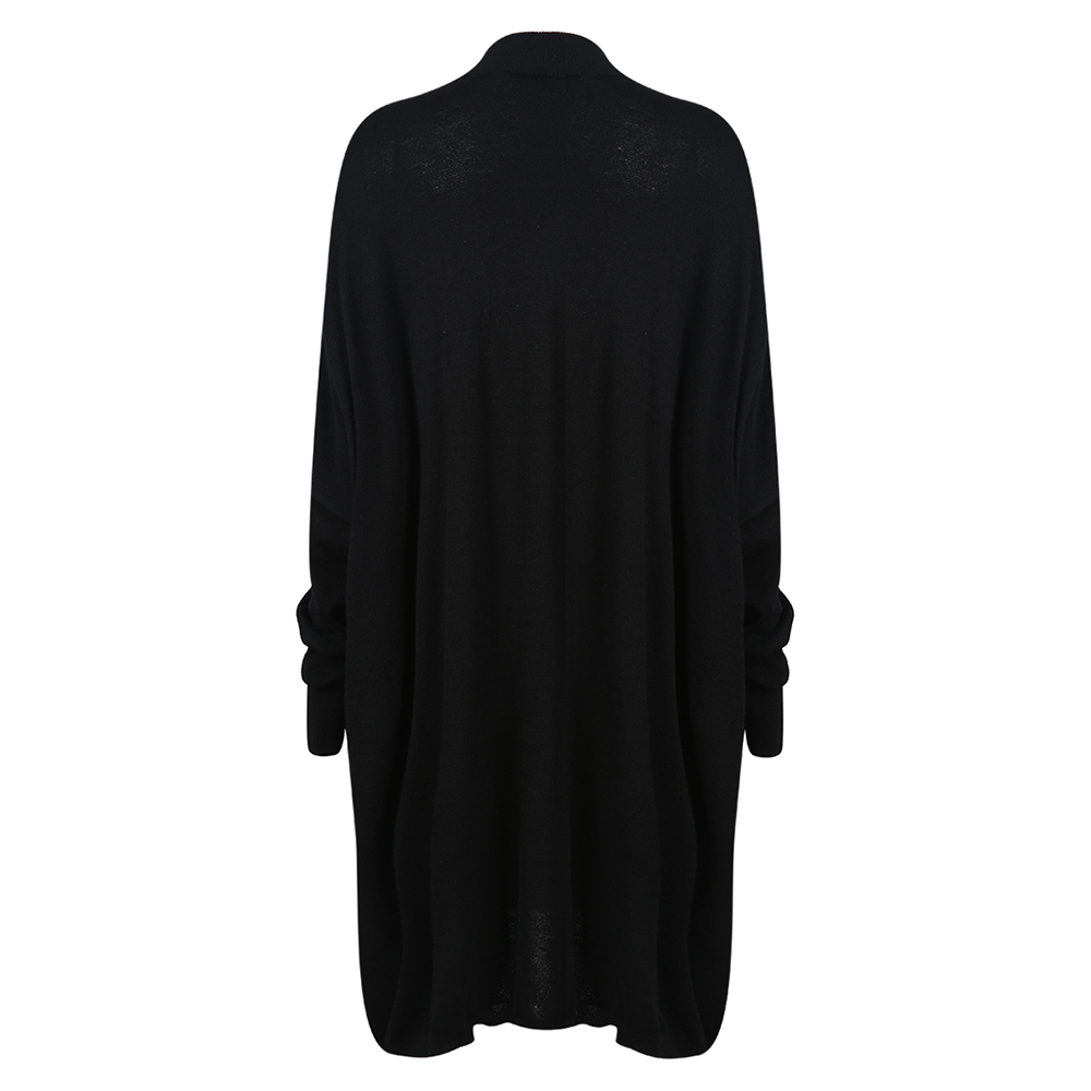 Black Turtleneck, Women's Knitted Sweater, Casual Long Sleeve Oversize Pullover 9