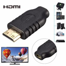 High Quality Gold Plated Micro HDMI D Female to Mini HDMI C Male Adapter for HDTV Smartphone Monitor(China)