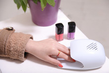 Mini Portable Nail Polish Dryer Fan Nail Art Drying Polish Blow Dryer white