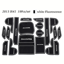 Car Decoration For Hyundai IX45 2013 Anti Slip Rubber Mats Auto Motive Interior Car Parts Door Pad Carpets Gate Slot Car Styling