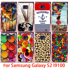 Soft Phone Cases For Samsung Galaxy SII I9100 S2 GT-I9100 Cases Button Girls Hard Back Cover Skin Shell Housing Sheath Bag Hood