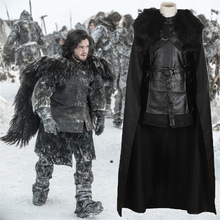2017 High Quality Game of Thrones Jon Snow Night's Watch Outfit Full Set Halloween Party Cosplay Costume For Adult Men Women