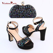 2017 Sapato Feminino New Women Pumps Heels Zapatos Mujer Tacon & Shoes And Bag To Match Sandals Set For Party Matching Brand