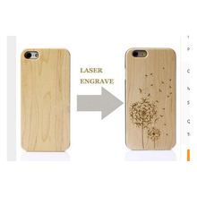 2017 Hot Sale New Laser Engrave Real Wood and plastic Custom Any Pattern DIY Logo For IPhone 6/6s/6plus/6sPlus/7/7Plus Case