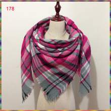Acrylic scarf,blanket scarf,300 color available for wholesale!New design winter Za Cashmere Plaid ,Tartan women beautiful scarf!
