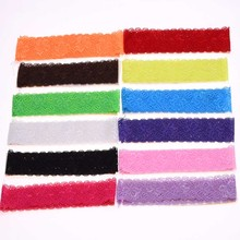 12PCS  1.5inch  headbands s Lace headband hair elastic band  hairbands Newborn  Ribbon
