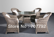 2017 Garden Furniture 5-piece Rattan Dining Table and Chairs Set
