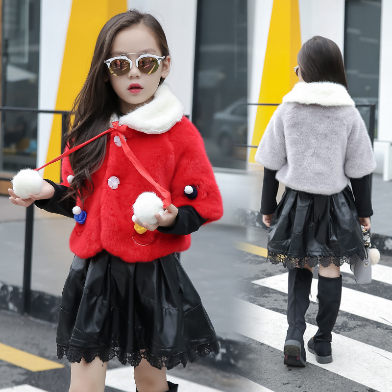 New Design Jacket Childrens clothing Winter clothes Girl Two piece Dress Middle school Children Outerwear Clothing Warm Girl<br>