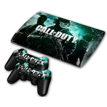 COD Vinyl Skin Sticker Protector for Sony PS3 Super Slim 4000 and 2 controller skins Stickers(China)