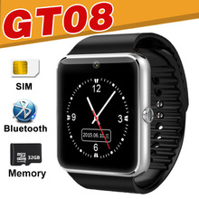 GT08 Smart Watch With 32G TF SIM Bluetooth Mobile Phone Smartwatch Sleep Monitor Remote Camera Music NFC For IOS Android V8 A1(China)