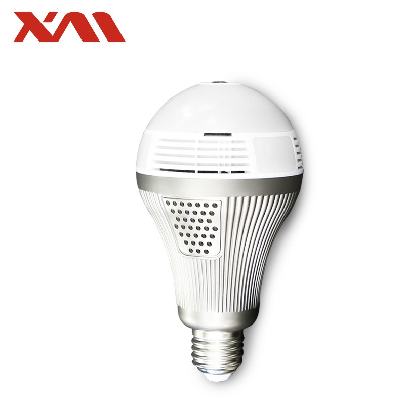 XM 5MP 360 VR HD IP Camera Smart LED Bulb Fake Security Camera Whitelight Night Vision Bulb Home Baby Monitor<br>