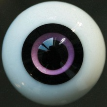[wamami] 0119# 14mm Exquisite Black Pupil Glass Eyes Outfit For BJD Doll Dollfie(China)