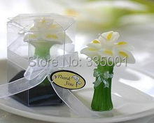 wedding candle favor-- Calla Lily Elegance Vase Shaped Candle party Decoration, bridal shower favor home decor 80pcs/lot