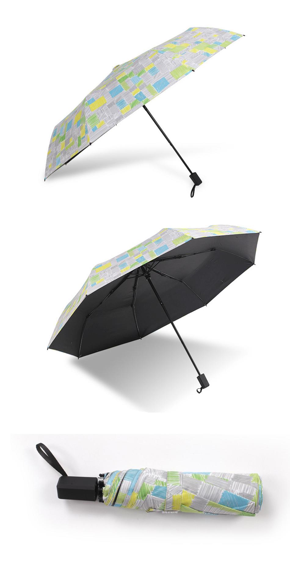 Women Folding Big Umbrellas Female Beach Anti Uv Black Coating Children  Rain Sun Umbrella Girl Small Parasol Auto Paraguas Gifts   Us110
