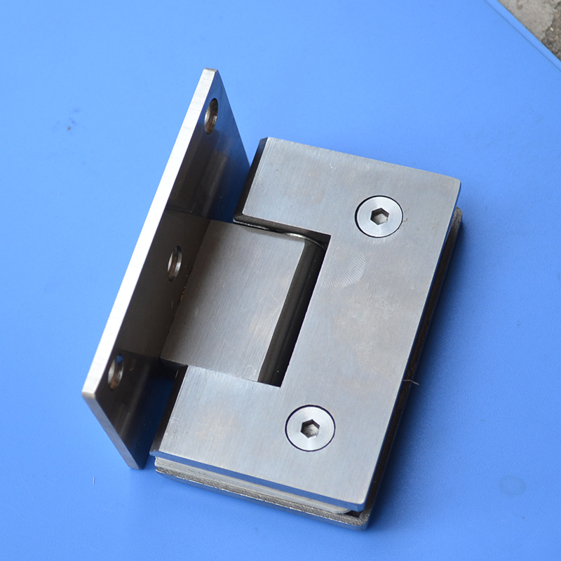 free shipping Stainless steel glass door hinge bathroom clip shower room hinge glass clamp household hardware 90-degree hinge<br>