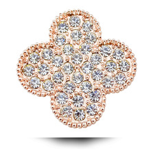 Exquisite Austria Rhinestone Clover Brooches Cute Plant Korean Wedding Pins and Brooches  Fashion Brooch Accessories