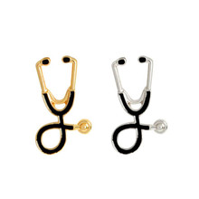 Oly2u Doctor stethoscope toy brooches girls gifts Lapel Pins Clothing Accessories brooch for dress BP182-183(China)