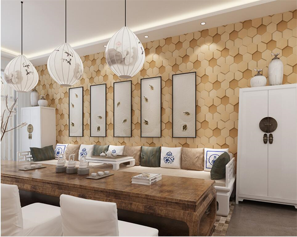 Beibehang Modern football texture yellow white Family interior background 3D wallpaper hotel cafe designed 3D wallpaper roll<br>