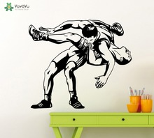 YOYOYU Removable Sport Wall Decal Wrestling Wall Sticker GYM Vinyl Poster Boy Bedroom Home Decoration Accessories Art MuralSY494(China)