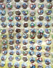 New 2sets (108pcs/set) Cartoon train Round Brooch Button Pin badge Badge 2.5 cm DIY Children Gift X90