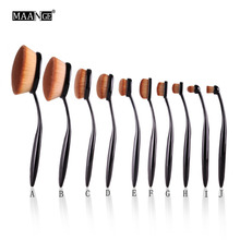 10 Style 1Pcs Oval Toothbrush Makeup Brush Eyeshadow Foundation Powder Blush Make Up Brush Multi-purpose Comestic Beauty Tool