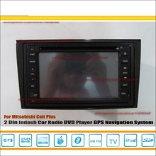 For Mitsubishi Colt Plus 2007~2012 Radio CD DVD Player & GPS Nav Navi Navigation System / Double Din Car Audio Installation Set(China)
