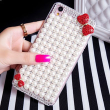 pearl case Coque capa For iPhone X 8 7 plus 7 6 6s plus 5c 5s 5 se 4s 4 3G 3GS Bling Diamond Crystal Bowknot case Fundas carcasa