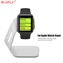 RAXFLY Aluminum Alloy Charging Stand For Apple Watch Bracket Docking Station Stock Cradle Holder for iWatch Desktop Support(China)