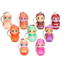 9pcs Scented Slow Rising Kids Gift Fun Stress Relief Toy Little Doll Keychain 4.9(China)