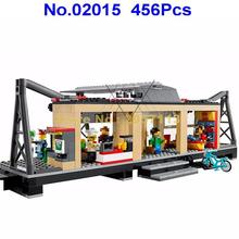 02015 456pcs City Series Train Station Building Block Compatible 60050 Brick Toy(China)