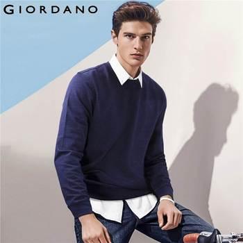 Giordano homens moletom sólidos mangas compridas hoodies dos homens pullover casual masculino homme moda masculina moletons streetwear