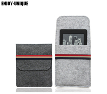 For Amazon kindle paperwhite case cover Felt Sleeve for kindle touch,kindle 4, kindle 5,6inch ebook reader(China)