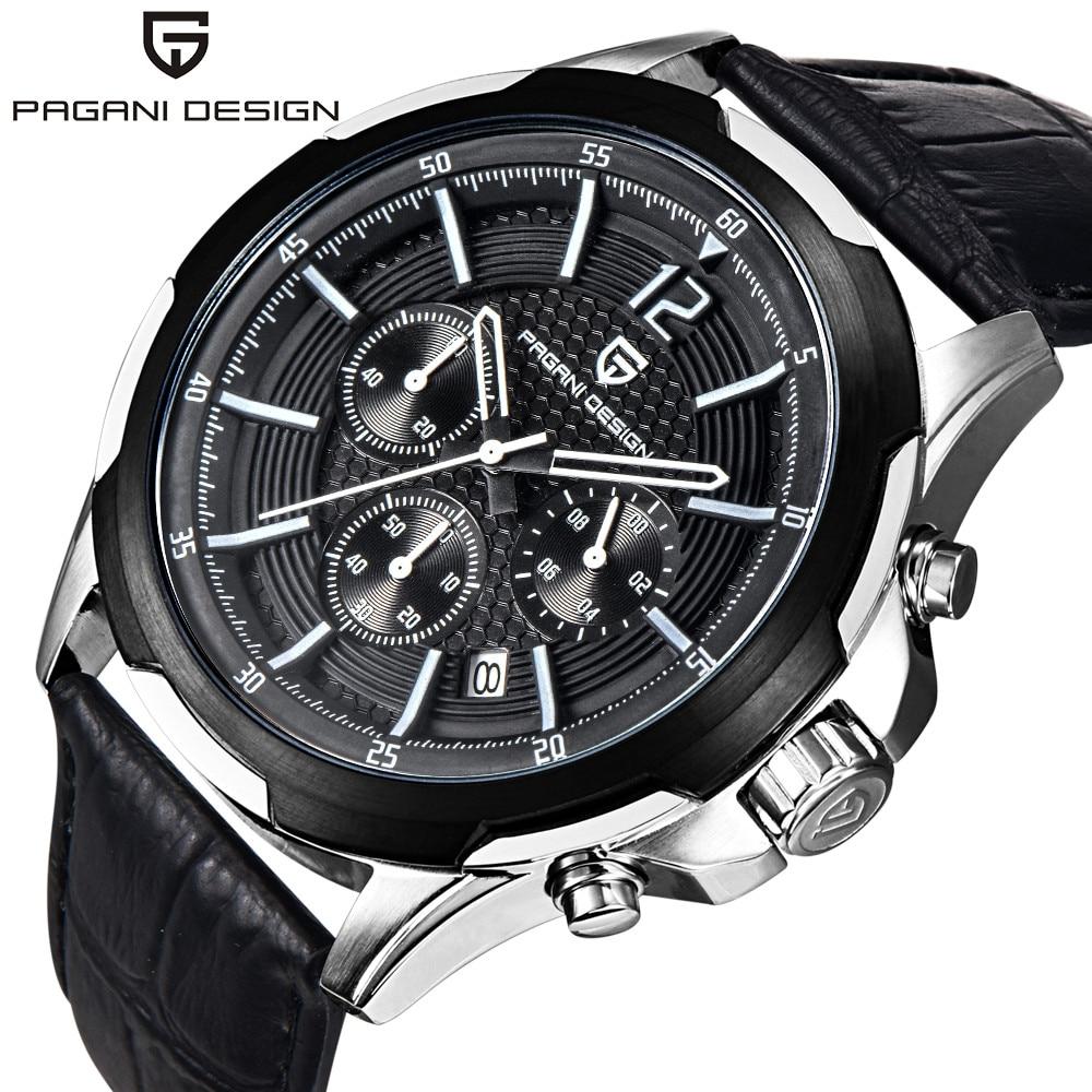 PAGANI DESIGN Brand Chronograph Watch Men Luxury Sport Watch Male Waterproof Leather Quartz Wrist Watch Men Clock horloges<br><br>Aliexpress