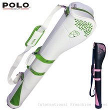 Top Quality Brand POLO Authentic Golf Horseshoe Gun Bag PU Waterproof Golf Rubber Ball Sport Bag Travel Club 5-6 Small Golf Bag(China)