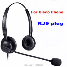 Free Shippingt RJ9 plug RJ11 plug Headset office phone headset for CISCO IP telephone 7940 7960 7970 8941 8945 6911 7945 etc