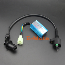 6 Pin Racing CDI + Ignition Coil Kit For Go kart Xtreme Kazuma Atv 50cc 70cc 90cc 110cc 125cc