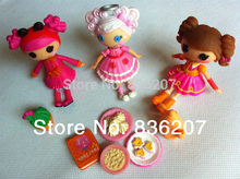 5PCS/LOT Lalaloopsy Mini Dolls 3inch For Girl's Toy PlayHouse Each Unique(China)
