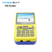 DHL Free shipping FREESAT V8 Finder Satellite signal Finder V-71 HD DVB-S2 MPEG-2/MPEG-4 FTA Digital Satellite meter 3.5inch LCD
