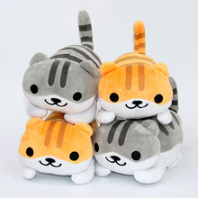 Cartoon Cute Neko Atsume Cat Plush Soft Stuffed Plush Dolls Kids Christmas Gift 18cm AP0550