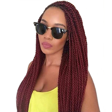 TOMO 18Inch 30Roots/Pack Crotchet Braids 16 Colors Synthetic Senegalese Twist Crochet Hair Extensions 6Packs/Lot