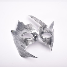 1 Piece Vintage Style Bronze Silver Black Birthday Party Masquerade Halloween Mask Maple Leaves Plastic Masks(China)