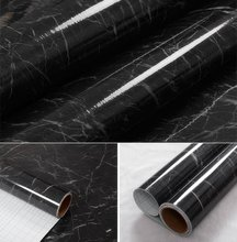 30*200cm Black Granite Marble Gloss Self Adhesive furniture Vinyl Decorative Film Counter  Kitchen Home Decor stickers 12''x79''