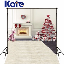 Christmas Background  Photography Backdrops Christmas Tree House balls White Wall Backgrounds For Photo Studio Kate Backdrop Gif