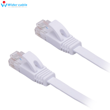 High Quality White High Speed Cat6 Ethernet Noolde Flat Cable 30cm Ultra Thin Design RJ45 Computer LAN Internet Network Cord