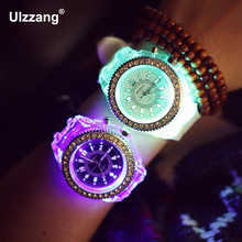 Relogio Masculino Luminous LED Sport Watches Women Quartz Watch ladies men Silicone Wristwatches glowing clock Relojes Mujer